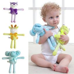 Toddler Newborn Baby Rattle Plush Animal Toys Stroller Pram