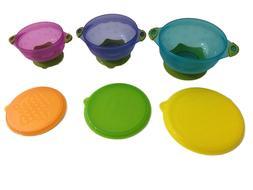 Baby Toddler Suction Bowls Set of 3 Feeding Non Slip & Lids