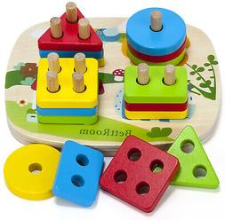 BettRoom Toddler Toys For 1 2 3 4-5 Year Old Boys Girls Wood
