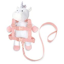 Travel Bug Toddler Unicorn 2-in-1 Safety Harness, White/Pink