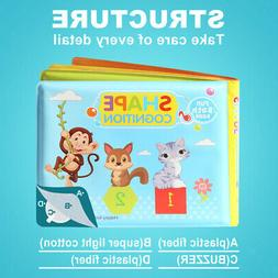Toddler Waterproof Baby Kids Shower Bath Book Early Educatio