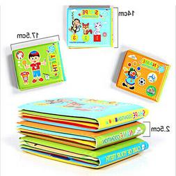 Toddler Waterproof Baby Kids Shower Bath Book Preschool Educ