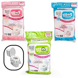 Toilet Seat Covers- Disposable XL Potty Seat Covers, Individ