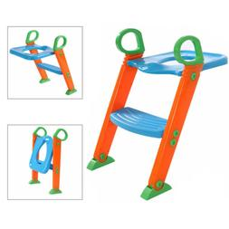 Toilet Seat Potty Trainer Chair Kids Toddler With Ladder Ste