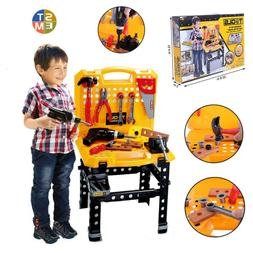 Toy Power Workbench Kids Tool Bench Construction Set Tools f
