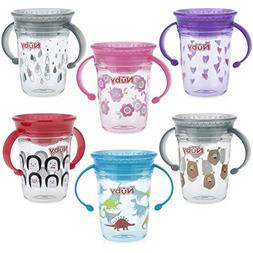 Nuby Tritan No Spill 2 Handle 360 Degree Printed Wonder Cup