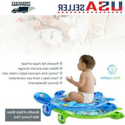 Tummy Time Inflatable Infants Baby Water Mat Turtle shape Fu