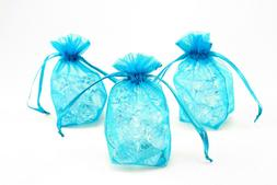 Turquoise Organza Boy Baby Shower Favor Gift Bags Jewelry Di