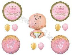 TWINKLE LITTLE STAR BABY GIRL Shower Balloons Decoration Sup
