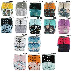 U PICK Bamboo Charcoal Baby Cloth Diaper Nappy Cover Reusabl
