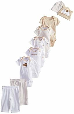 Gerber Unisex-Baby Bear 9 Piece Onesies, Pants and Caps Play