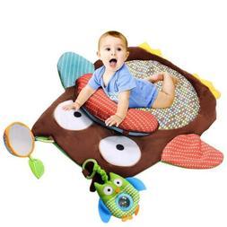 Unisex Baby Play Mat Owl Carpet Crawling Blanket Toy Doll Pl