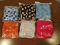 Happy Flute Unisex Diapers lot 6 mixed one size reusable clo