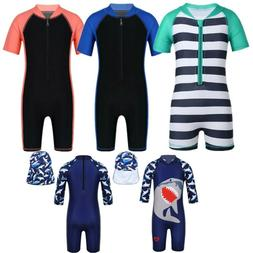 Unisex Kids Baby One-piece Swimsuit Boys Girls Swimwear Bath