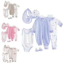 Unisex Newborn Baby Boys Girls 8 Piece Clothing Net Bag Laye