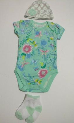 US baby girl clothing 3 piece items lot 3-6 months baby show