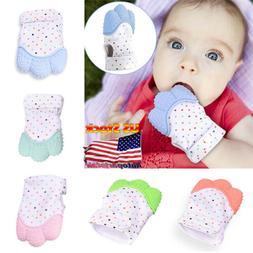 US Baby Mitt Teething Mitten Silicone Glove Gum Safe BPA Che