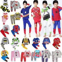 US Cartoon Kids Toddler Baby Boys Girls Costume Pyjamas Paja