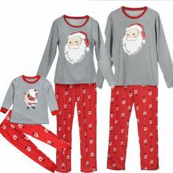 US Family Matching Christmas Pajamas Set Women Baby Kids Sle