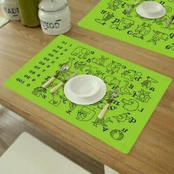 US Kid Baby Place Mats Silicone Placemat Pad Insulation Dini