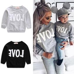 US Mom and Baby Girl Boy Clothes Family Matching Outfit Pare