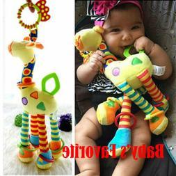 US Newborn Infant Baby Pram Bed Bells Soft Hanging Toys Anim