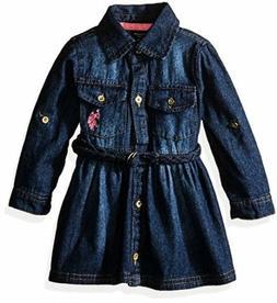 US Polo Assn. Childrens Apparel U.S. Baby Girls Classic Deni
