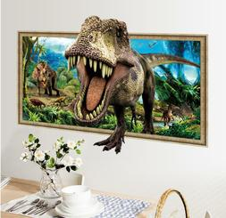 US STOCK Wall Sticker Dinosaur Jurassic Park Decal For Kids