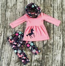 US Toddler Baby Girls Clothes Long Sleeve Tops Dress Floral