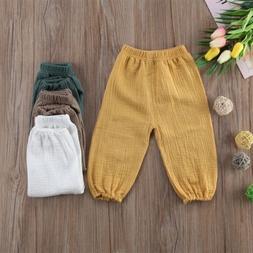 US Toddler Kids Baby Boys Girls Bottom Long Pants Leggings T