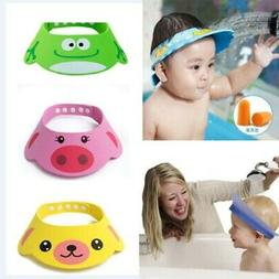 USA Baby Kids Bath Shower Cap Shampoo Shield Cartoon Bathing