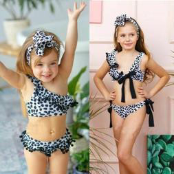 USA Fashion Kids Baby Girl Swimwear Swimsuit Bikini Set Bath