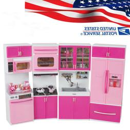 *USA* Mini Kitchen Food Cooking Pretend Play Toys For Girls