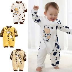 USA Newborn Baby Girl Boy Clothes Kids Romper Bodysuit Jumps
