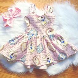 USA Snow White Toddler Baby Girls Princess Clothes Summer Ba