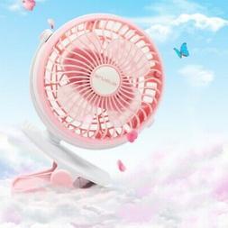 USB Rechargeable Battery Operated Clip on Portable Desk Fan