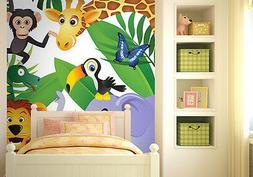 Wall mural photo wallpaper for baby's room Wild jungle anima