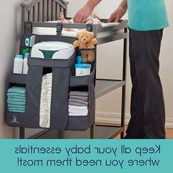 Wall Nursery Organizer Hanging And Diaper Caddy Changing Tab