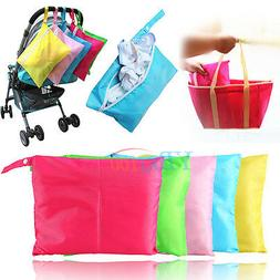 Waterproof Baby Toddler Kids Diaper Nappy Wet Dry Toys Bag P