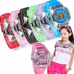 Waterproof Child Boy Girl Sports Electronic Digital Wrist Wa