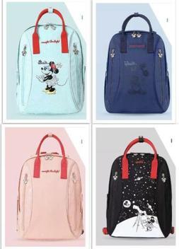 Disney Waterproof Diaper Bags USB Bottle Feeding Travel Back