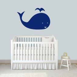 Whale Wall Decal - Nursery, Kids, Baby, Animal, Nautical, Be