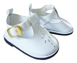 White T-Strap Shoes for Bitty Baby Doll Clothes Sew Beautifu