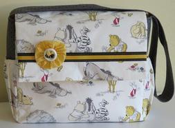 WINNIE THE POOH Disney HANDMADE DIAPER BAG/MESSENGER BAG - h