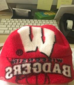 Wisconsin Badgers Fleece Hat - Handmade sizes Newborn Baby B