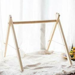Wood Baby Activity Play Centers Gym Frame Foldable Hanging B
