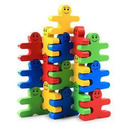Wood Building Blocks Stacking Game Toys for Kids Children To