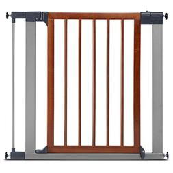 Munchkin Wood & Steel Pressure Mount Baby Gate for Stairs, H