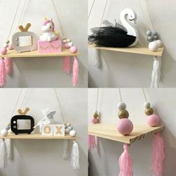 Wooden Beads Tassels Wall Hanging Board Room Nursery Decor C
