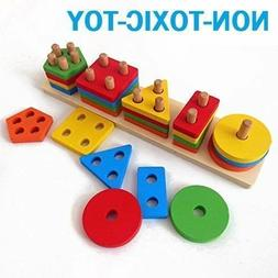 Wooden Educational Preschool Toddler Toys 1 2 3 4 5 6 Years